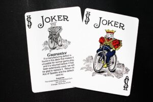 2 Jokers cards in a deck of playing cards