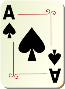 1 ace of spades in a deck
